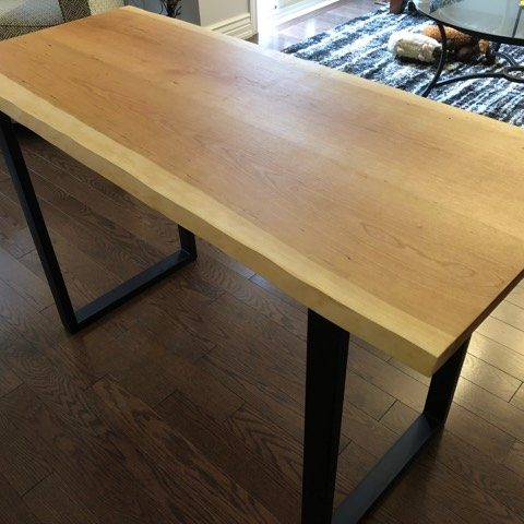 Custom Live Edge Table