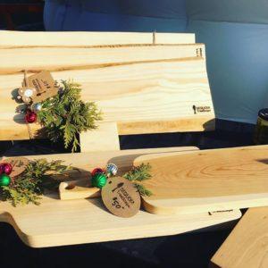 live edge wood work sequoia treescape